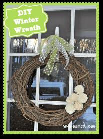 DIY Easy Winter wreath