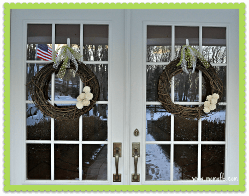 Winter Wreath Project- On the Door