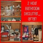 How to DeClutter Your Bathroom in 2 Hours