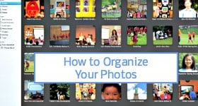 how to organize your photos badge