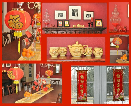 Chinese New Year Decor Chinese New Year at Home  Dumplings and Decorations!