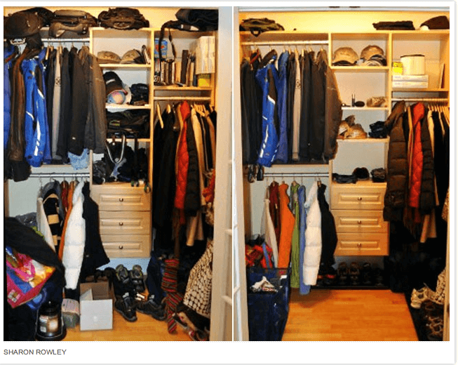 Declutter Your Closet iVillage1 De Cluttering Closets, Changes with the Boy Scouts, Organizing Photos, and Life As a Busy Mom {Weekly Wrap Up}