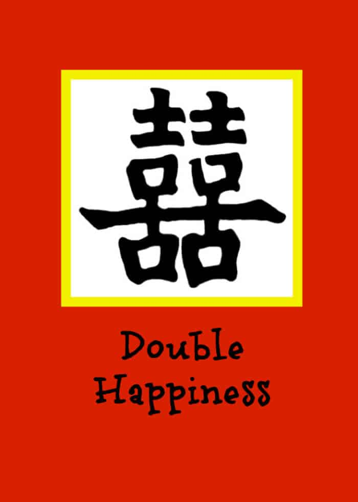 Double Happiness 5 x 7 Chinese New Year at Home  Dumplings and Decorations!