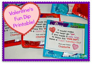 Valentine's Fun Dip Printable