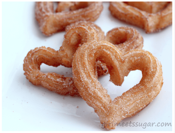 Heart Shaped Churros 7 Great Ways to Celebrate Valentines Day with Your Family! (Links to Love)