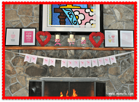Valentine's Day Decor- Family Room