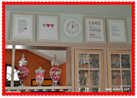 Valentine's Day Decor- Kitchen
