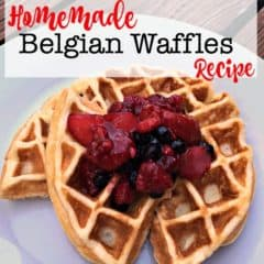 I promise you- this is the best homemade Belgian waffle recipe you will ever taste!