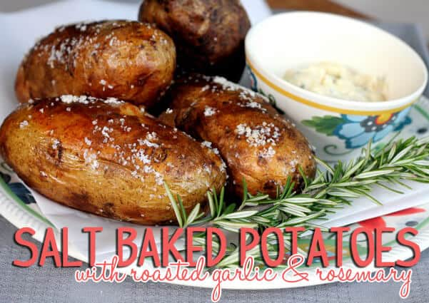 salt baked potatoes with roasted garlic and rosemary edited 1 Make Your Own Apothecary Jars, Re Vamp an Old Frame, and Make Some Yummy Treats This Week {Links to Love}