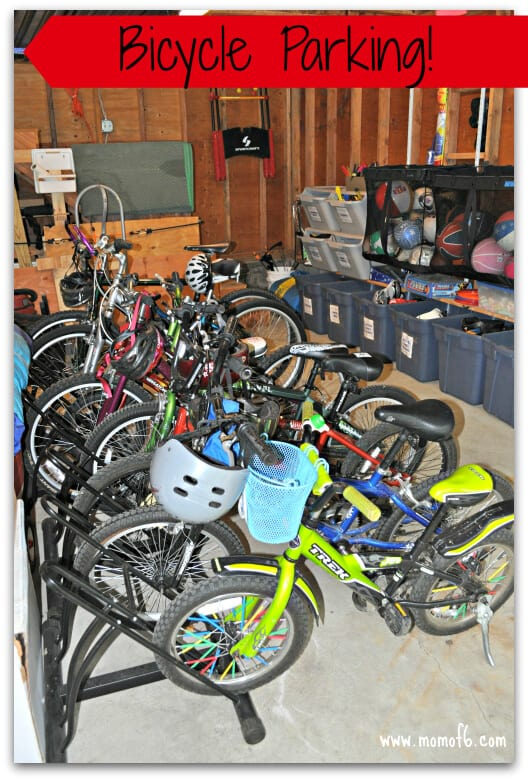 Summer garage fun stations- bicycle parking