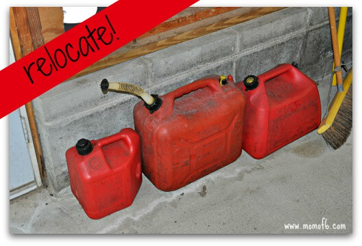 Summer garage fun stations- relocate dangerous items