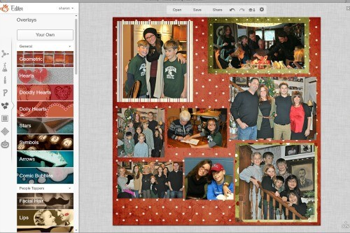 arranged photos before embellishments and titles