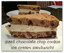 Giant Chocolate Chip Cookie Ice Cream Sandwich