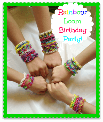 Rainbow Loom Birthday Party