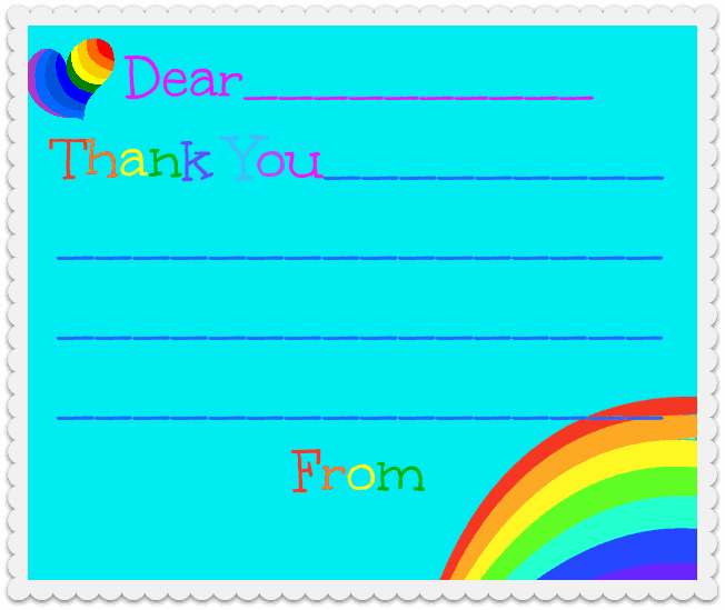 Rainbow Loom Thank You Cards Rainbow Loom Birthday Party!