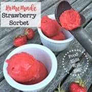This strawberry sorbet will become the reason you go strawberry picking each summer! A super simple recipe that comes together quickly in your ice cream maker.