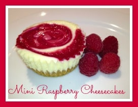 Mini Raspberry Cheesecakes Badge