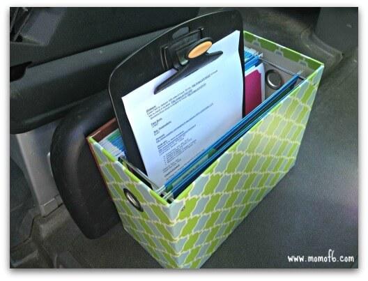 Organized Road Trip- Bin