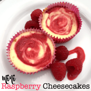 These yummy mini raspberry cheesecakes are a delicious creamy summer treat that can be consumed in just a few bites (that is- if you can stop yourself at just one!)