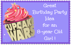 Cupcake Wars Party Badge