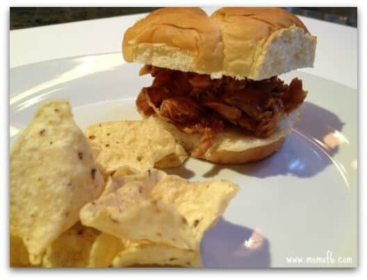 BBQ Chicken Sandwiches- A Simple Crockpot Meal! {Road Trip Cooking}