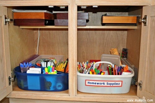 Homework Caddy- cabinet