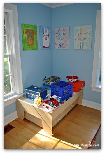 Kids Space Makeover train table I Need Your Help  How Should I Make Over This Kids Space?