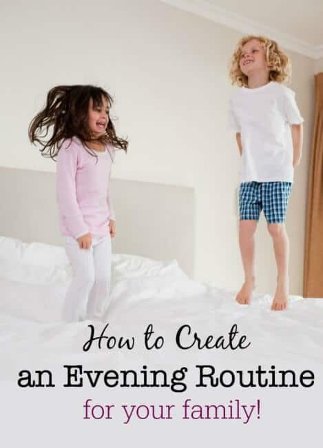 Routines are habits that you create for yourself and your family to get things done at a specific time of day- so here's how to create an evening routine for your family that sets you up the the next day!