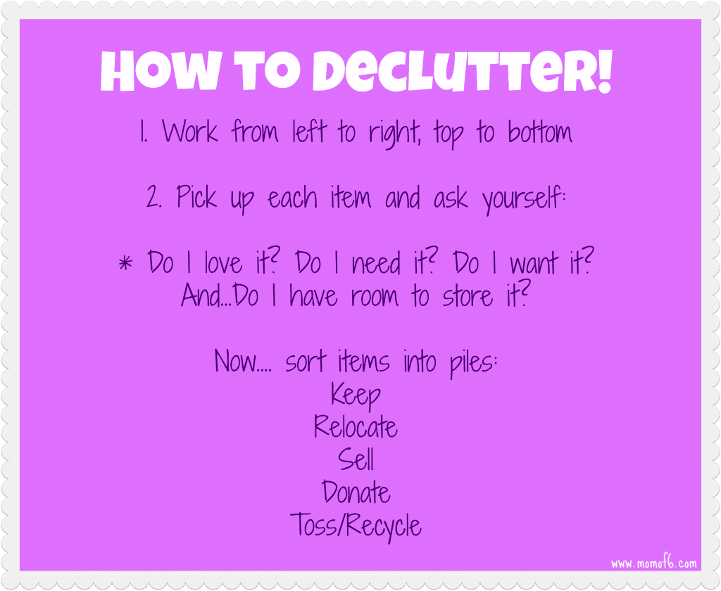 How to Decluter