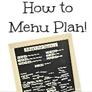 5 Great Menu Board Ideas! {Menu Plan Monday}