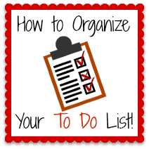 How to Organize Your To Do List