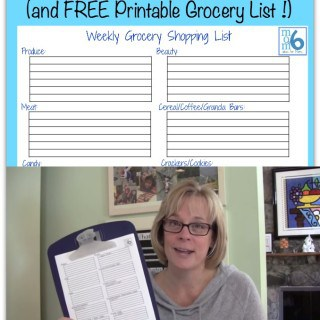 How to Organize Your Grocery List and Printable Grocery List {How to Organize Your Life #8}
