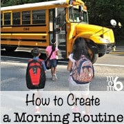 Are your mornings stressful, rushed, and leave you feeling frazzled? Here are some great tips on how to create a morning routine for both yourself and for your kids!