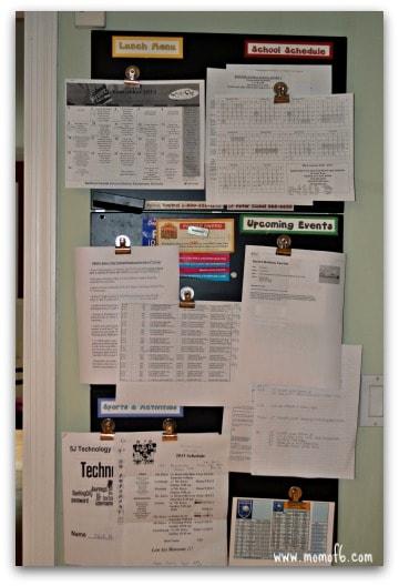 Paperwork- wall command center
