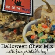 This year I decided I wanted to create a Halloween version of our Christmas mix- featuring my favorite seasonal treat- candy corn! Here's how to make this yummy Halloween White Chocolate Chex Mix!