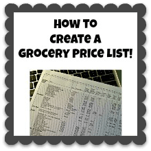 How to Create a Grocery Price List {Save $, Shop Smarter #1}