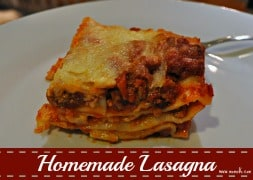 Homemade Lasagna