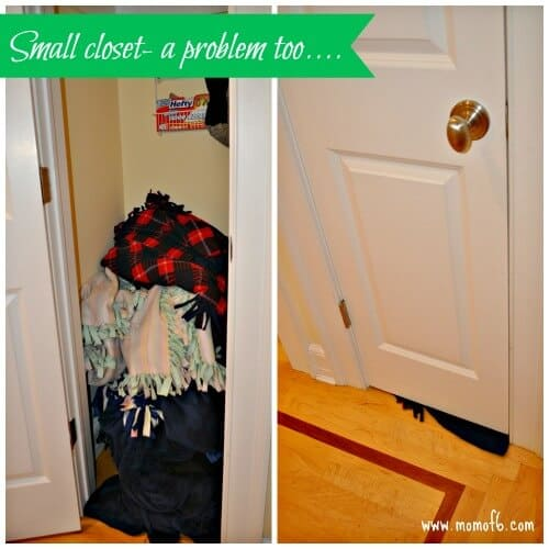 Small closet is a problem too