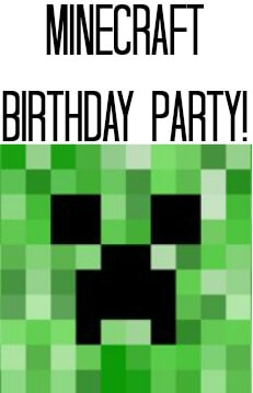 Minecraft Birthday party Badge