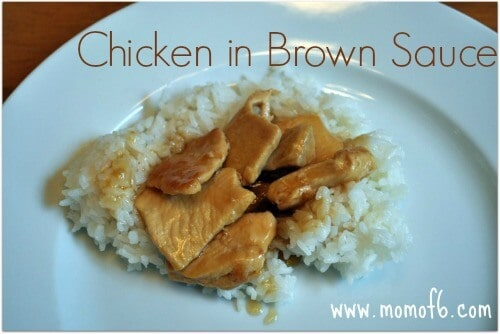 sliced chicken breasts 3 minced garlic cloves 6 T soy sauce 4 T brown ...