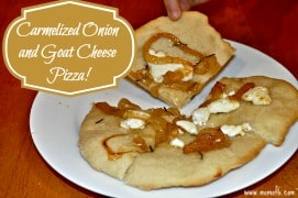 Caramelized Onion and Goat Cheese Pizza {Menu Plan Monday}