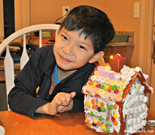 Gingerbread Wars- alex with house