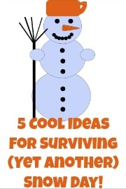 5 Cool Ideas for Surviving Another Snow Day