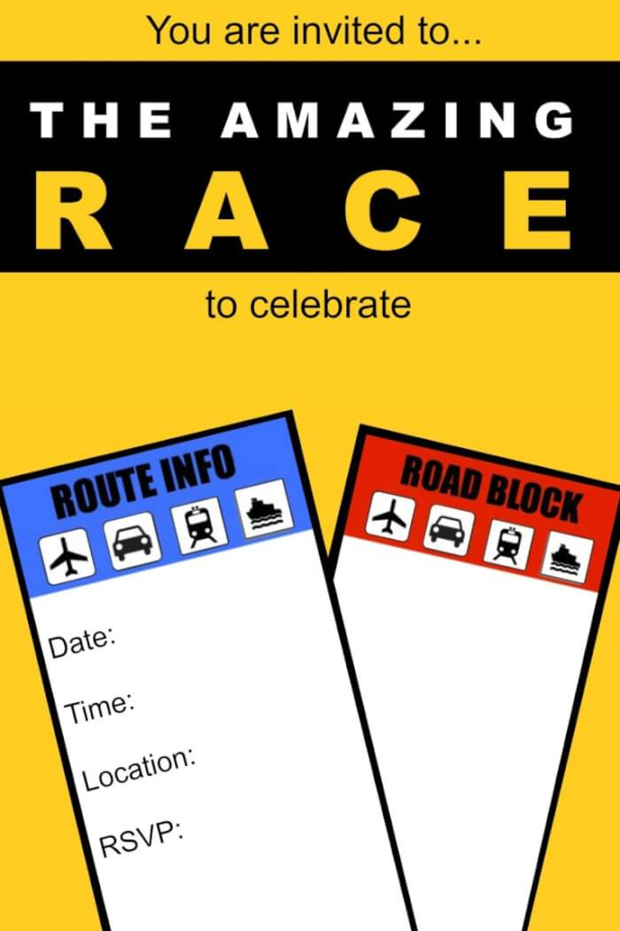 9 YO 10YO 11 Fantastic ideas for hosting an Amazing Race birthday party at home! This post includes free
