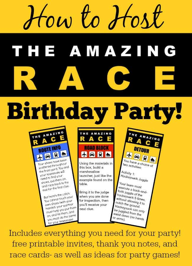 Great 11 year old party idea the amazing race birthday for How to be a good party host