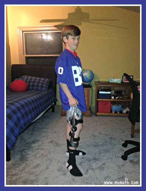 Spencer with knee brace Happiness Is.... Gratitude for Your Outer Circle