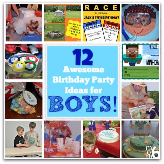 If you are looking for a great idea for an at-home party for your birthday boy- then check out these 12 Awesome Birthday Party Ideas for Boys!