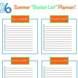 Creating a Family Summer Bucket List (Free Printable!)