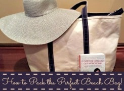 How to pack a perfect beach bag