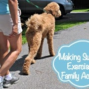 Exercising with the dog badge